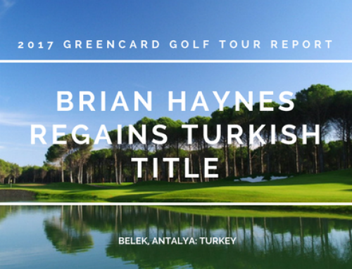 Greencard Golf Holidays Turkey 2017 Tour Report